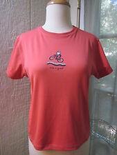 Life is Good Cranberry/C Short/S Crewneck Belly Style Shirt *Women L **EX**
