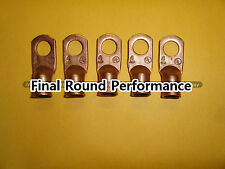 "4ga Copper Battery Cable Lugs 5/16"" 5 Pack LOOK!!!! FREE SHIPPING!!!!"