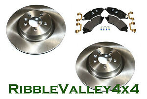 LAND ROVER DISCOVERY 4 FRONT BRAKE DISCS AND PADS KIT V8 PETROL TDV6 3L