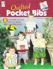 QUILTED POCKET BIBS ~ PATTERNS ~ NEW