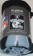 NFL NIB 50x60 ROLLED FLEECE BLANKET GRIDIRON DESIGN - OAKLAND RAIDERS