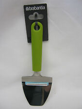 New Brabantia Stainless Steel Cheese Slicer Green Handle 106422