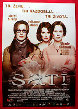THE HOURS 2003 MERYL STREEP JULIANNE MOORE NICOLE KIDMAN SERBIAN MOVIE POSTER