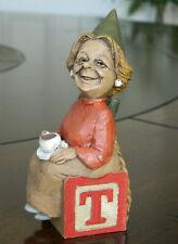 "*Edition #1 Tom Clark Signed Alphabet Letter Block Gnome ""T"" 1994"