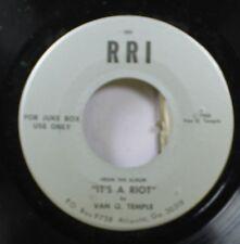 Pop Spoken Word Nm! 45 Van Q. Temple - It'S A Riot / It'S A Riot On Rri