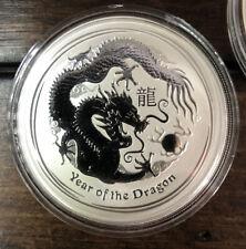 "2012 Australian ""Year of the Dragon"" -RARE 1 OZ .999 SILVER COIN $1 -Perth Mint-"