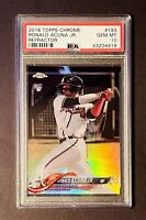 2018 Topps Chrome Refractor Ronald Acuna Jr RC Rookie #193 PSA 10 GEM MINT