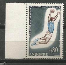 French Andorra yvert# 201 ** MNH Set Handball World Cup / Balonmano 1970