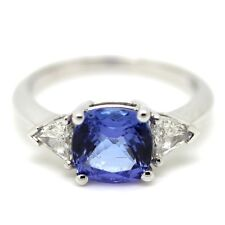 2.50 Carat Beautiful Tanzanite And Diamond Ring Crafted in 18k White Gold