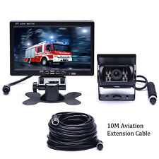 "RV Truck Bus Van Car IR Back Up Camera Night Vision System+7"" Rear View Monitor"