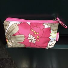 """Clinique Floral Print Polyester Zippered Top Cosmetic Case (Nwot) 6"""" X 4"""" X 1.5"""""""
