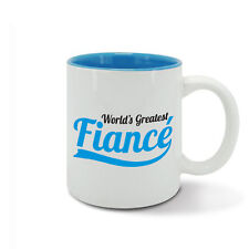 World's Greatest FIANCE, best ever husband to be, number one hubby, blue mug cup
