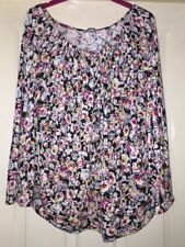 South Floral Gypsy Top Size 18 Soft