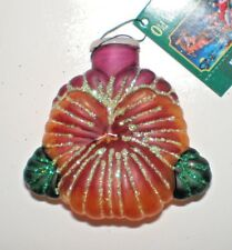 PANSEY LIGHT COVER Old World Christmas Glass Ornament New with Tags