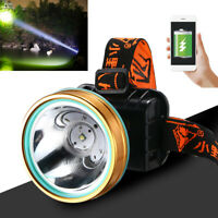Super Bright Waterproof Head Torch/Headlight LED USB Rechargeable Headlamp Work