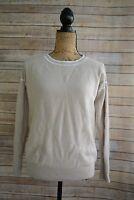 Banana Republic FILPUCCI Beige textured MERINO blend CREWNECK sweater, size S