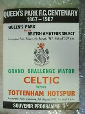 1967 QPR v British Amateur Select, Celtic v Tottenham Hotspur (Grand Chal. Match