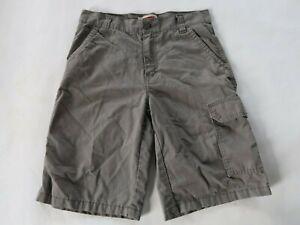 Levis Boys Cotton Blend Solid Gray Cargo Khaki Shorts Youth 16 Reg