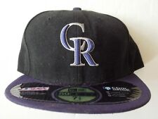 Colorado Rockies Black Cool Base On-Field Purple MLB New Era 59Fifty Fitted Hat
