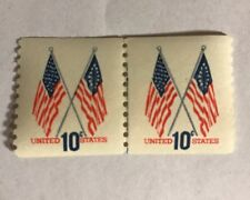 New listing Us Scott #1519 United States Flags 10 Cent Stamps Pair Coil