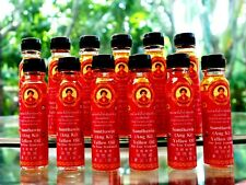 12 Somthawin Yellow Oil Massage Muscle Pain Relief Thai Natural Herb 100% 24 cc.
