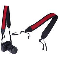 Skidproof Neoprene Red Neck Strap for DSLR Camera Binocular Nikon Canon fuji *dm