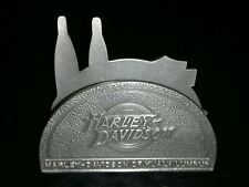 HARLEY DAVIDSON CARD PAPER HOLDER PEWTER