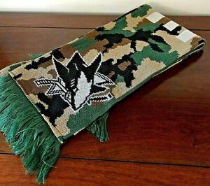 San Jose Sharks Camo Green/Tan/Black Neck Scarf w/Fringe Double Sided Adidas