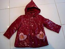 manteau ciré rouge, kiabi taille 4 ans
