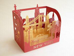 New York Souvenir Laser Pop-Up Greeting Card - Landmarks - Statue of Liberty