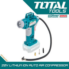 Total Tools 20v Lithium-ion Auto Air Compressor Portable Cordless
