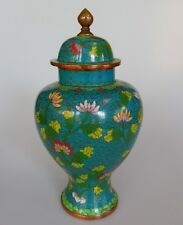 Chinese Cloisonne Ginger Jar Antique 1900-1940