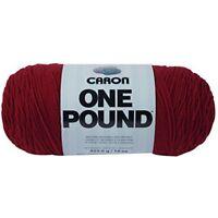Caron One Pound Solids Yarn - (4) Medium Gauge 100% Acrylic - 16 Oz - Claret- -