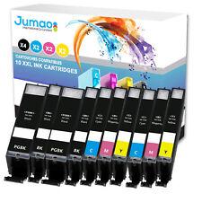 Lot de 10 cartouches jet d'encre type Jumao compatibles pour Canon Pixma TS5055