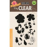 Layering Hibiscus Flower Clear Acrylic Stamp Set by Hero Arts CL868 NEW!