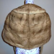 Vintage Beige Brown Mink Fur Stole Wrap Jacket S-M-L