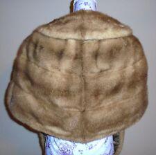 Vintage Beige Brown Mink Fur Stole Wrap Jacket S-M-L
