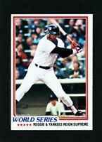 1982 Topps Reggie Jackson World Series #413                      A516