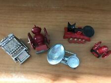 Miniature Doll House Accessories - Red Metal Coffee Grinder Scales Cash Register