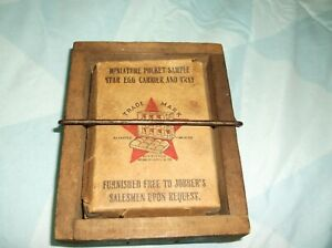 Extremely Rare 1903 Star Egg Carrier and Tray Salesman Sample