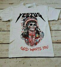 NEW - Kanye West - YEEZUS - Indian Chief - God Wants You - WHITE T-SHIRT
