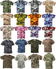 Camouflage Tactical Military Short Sleeve Army Camo T-Shirt