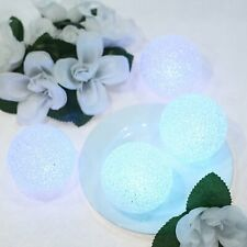 """4 Assorted 3"""" wide Led Orbs Battery Operated Ball Lights Wedding Decorations"""