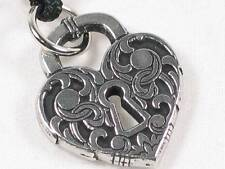 Love Unlocked  handcast Pewter Pendant, Open your heart to receive love