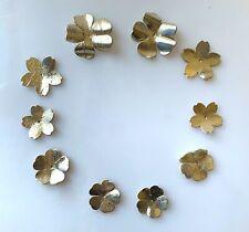 DIY Blumen aus Lammleder in Gold Metallic 10 St. (2 Designs 3 Größen)