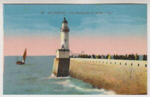 France postcard - Le Treport - le Phare et la Jetee - LL No. 48 (A205)