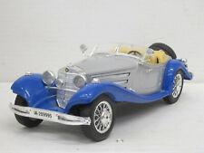 Mercedes-Benz 500 K Roadster (1936), blau/silbermetallic, Bburago, 1:20, o. OVP