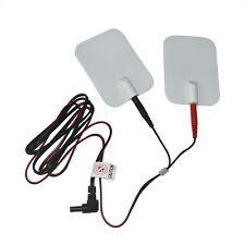 2 Pairs Electrode Massage Pads + 2 Cable For Tens Massager  2.35 Plug DC Head