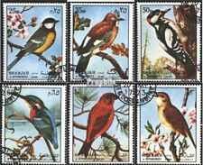 Sharjah 1178-1183 (complete issue) used 1972 Birds