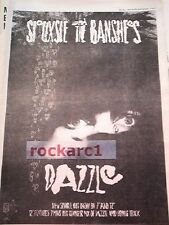 SIOUXSIE & Banshees Dazzle 1984 UK Poster size Press ADVERT 16x12 inches
